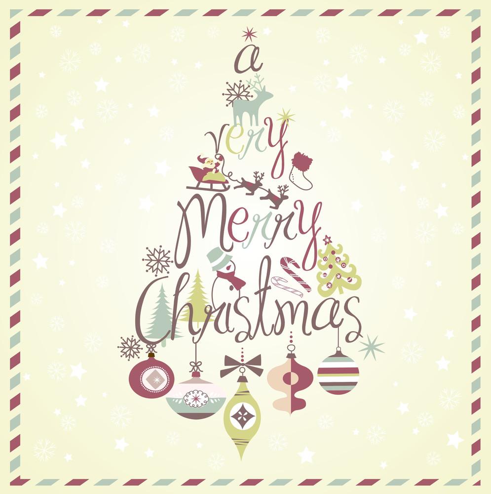 A Very Merry Christmas Tree Design