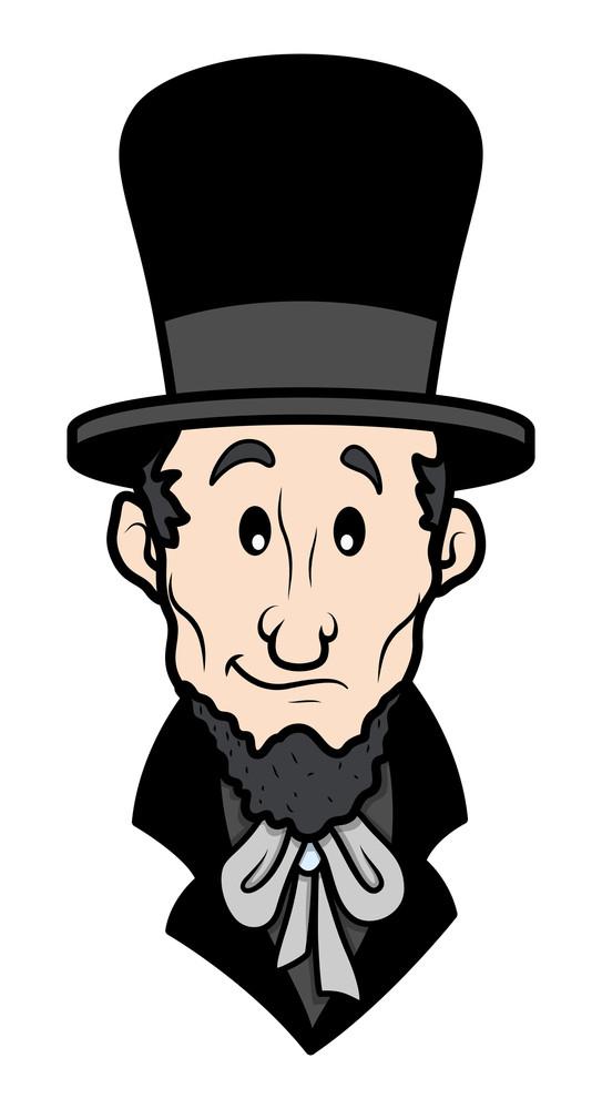 Abraham Lincoln Cartoon Vector Character