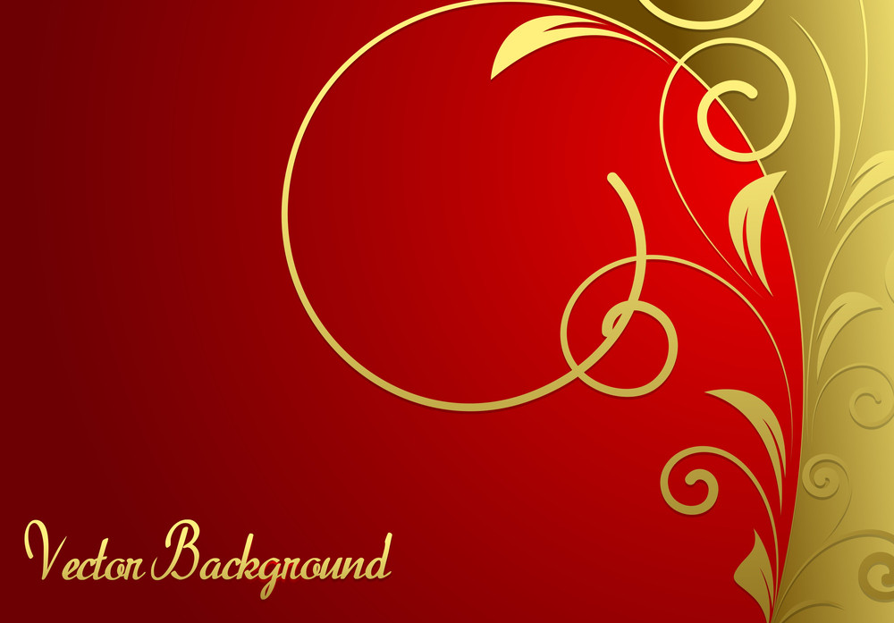 Absatract Golden Floral Holiday Banner