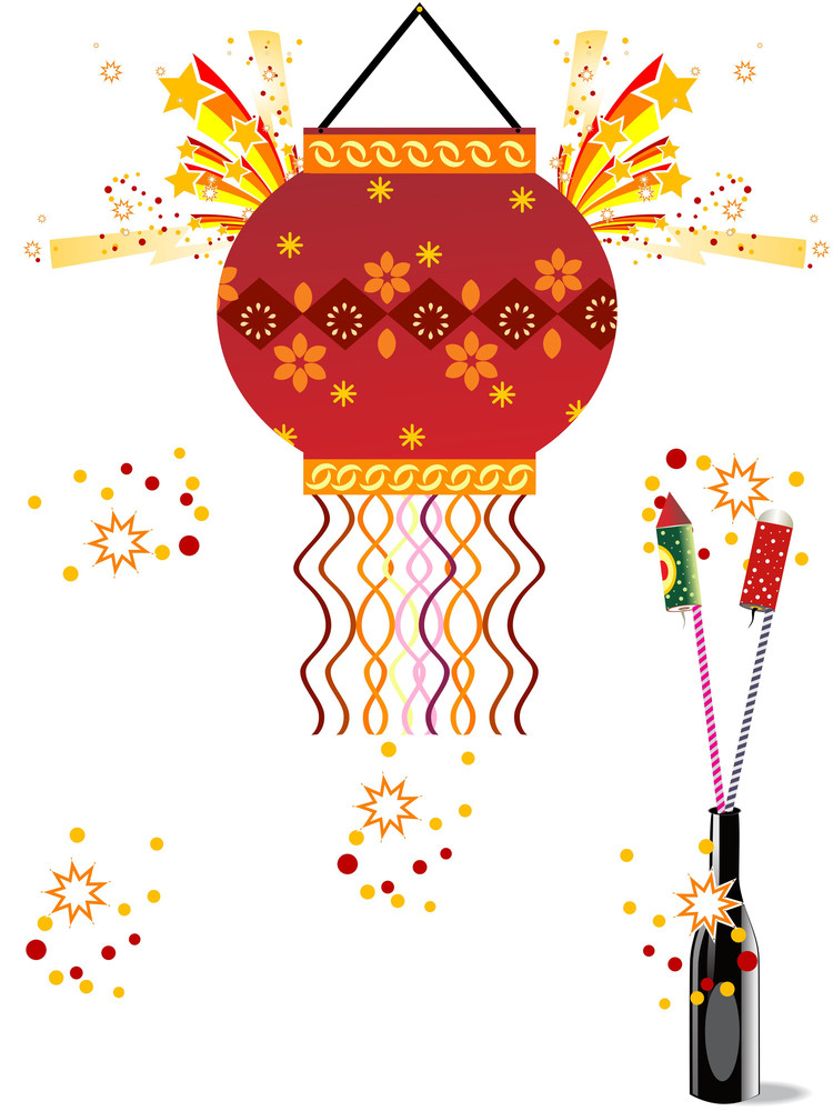 Absract Artwork Illustration For Diwali