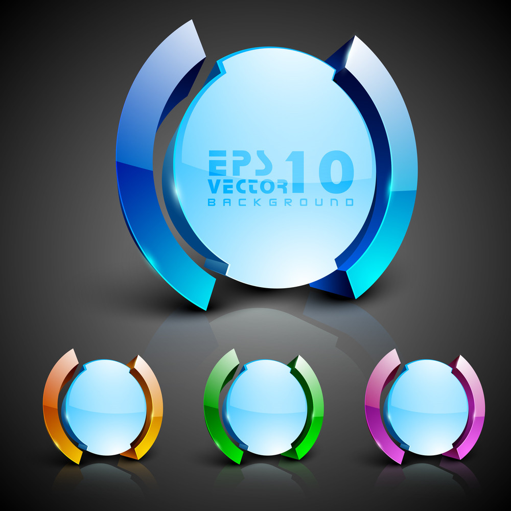 Abstract 3d Glossy Icon Sets In Yellow