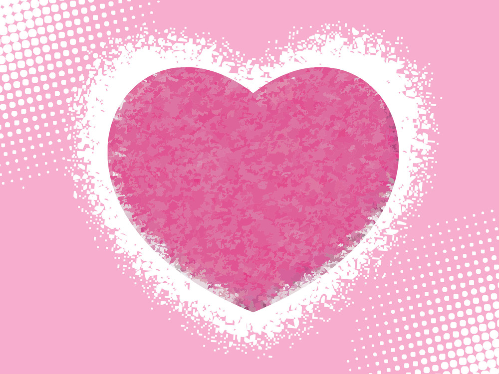 Abstract A Pink Heart With Background