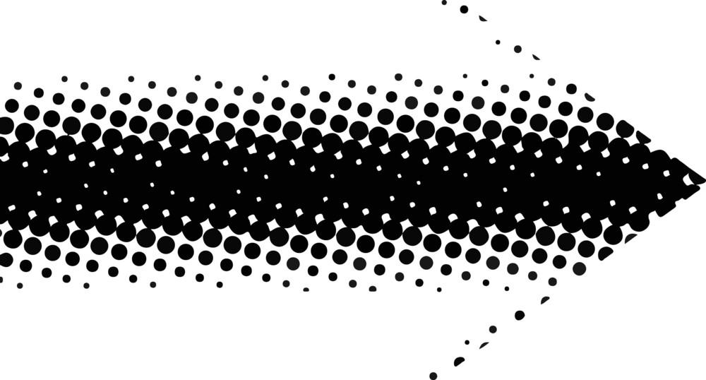Abstract Arrow Halftone Design