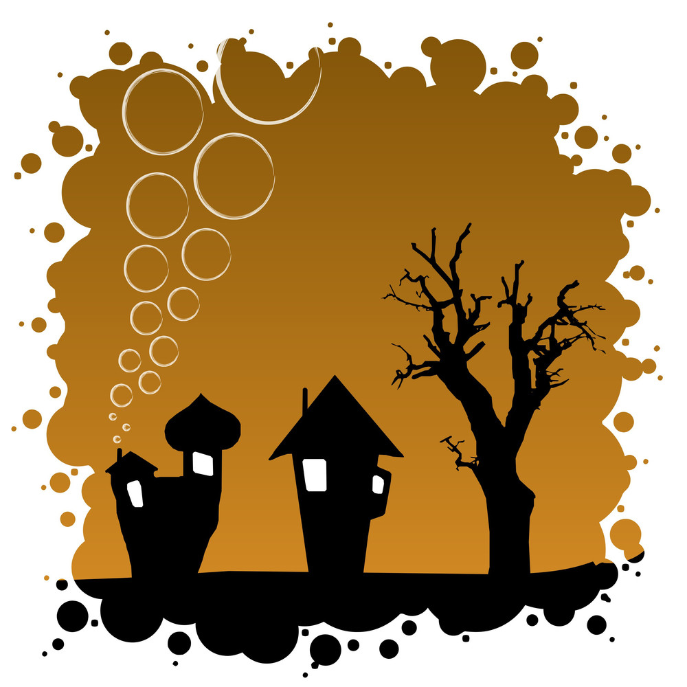 Abstract Autumn Background - Halloween Design