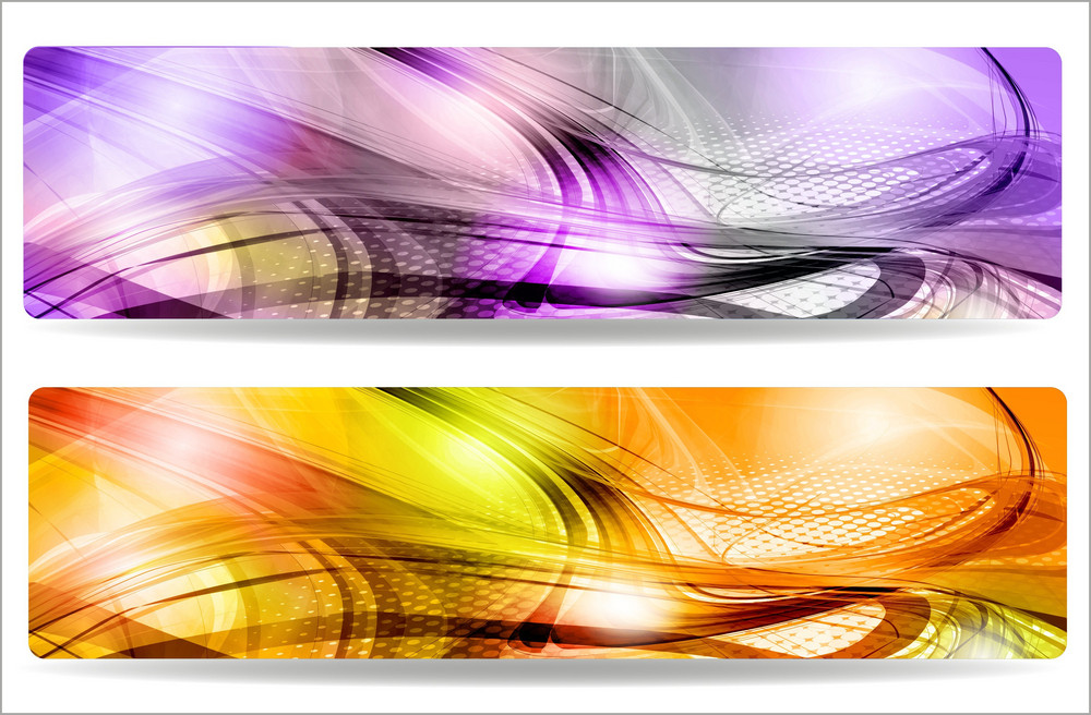 Abstract Background Banners