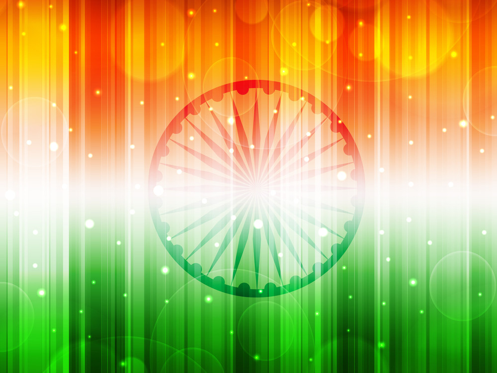 Abstract Background For Independence Day & Republic Day.