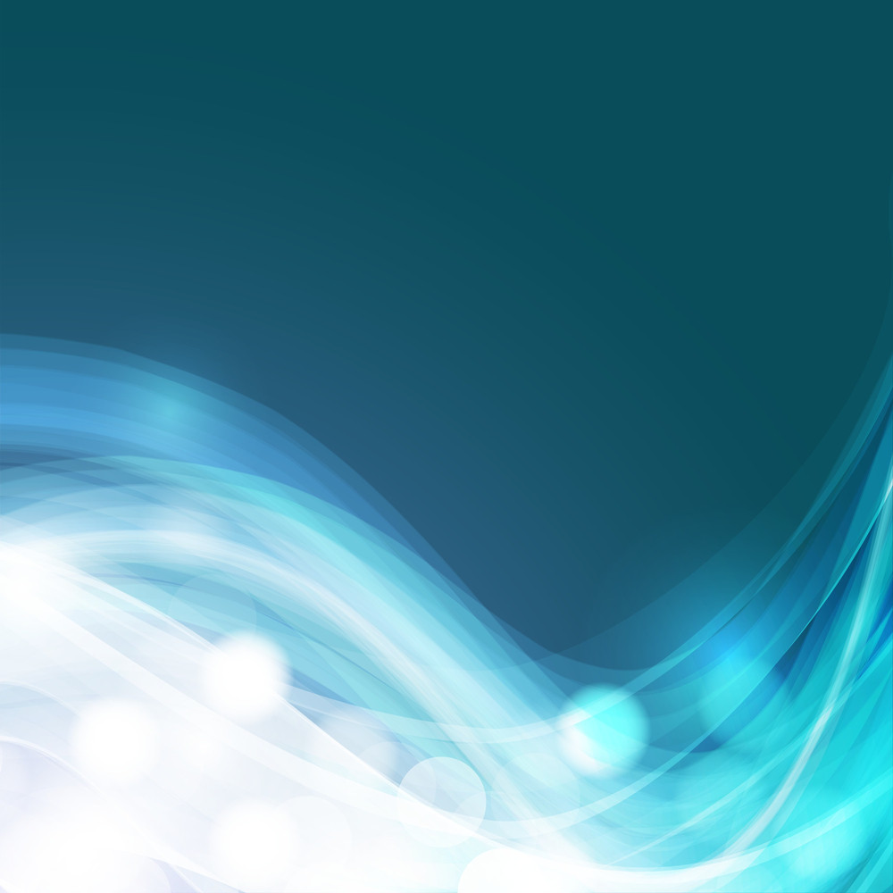 Abstract Background In Blue With Water Waves And Sun Light With Space For Your Text