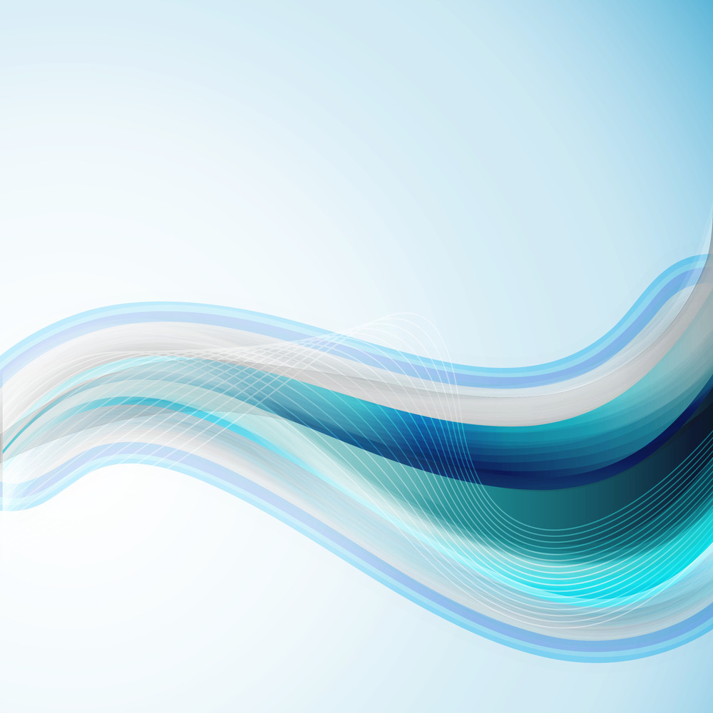 Abstract Background In Blue With Water Waves And White Lines Can Be Used As Poster