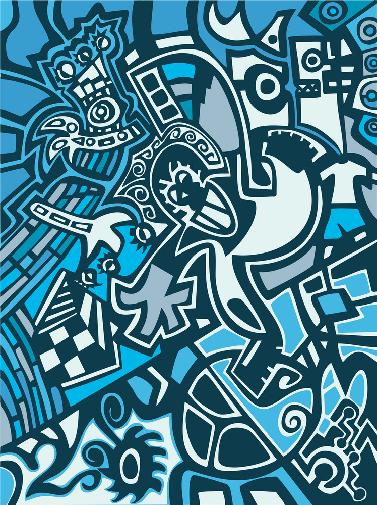 Abstract Background In Graffiti Style