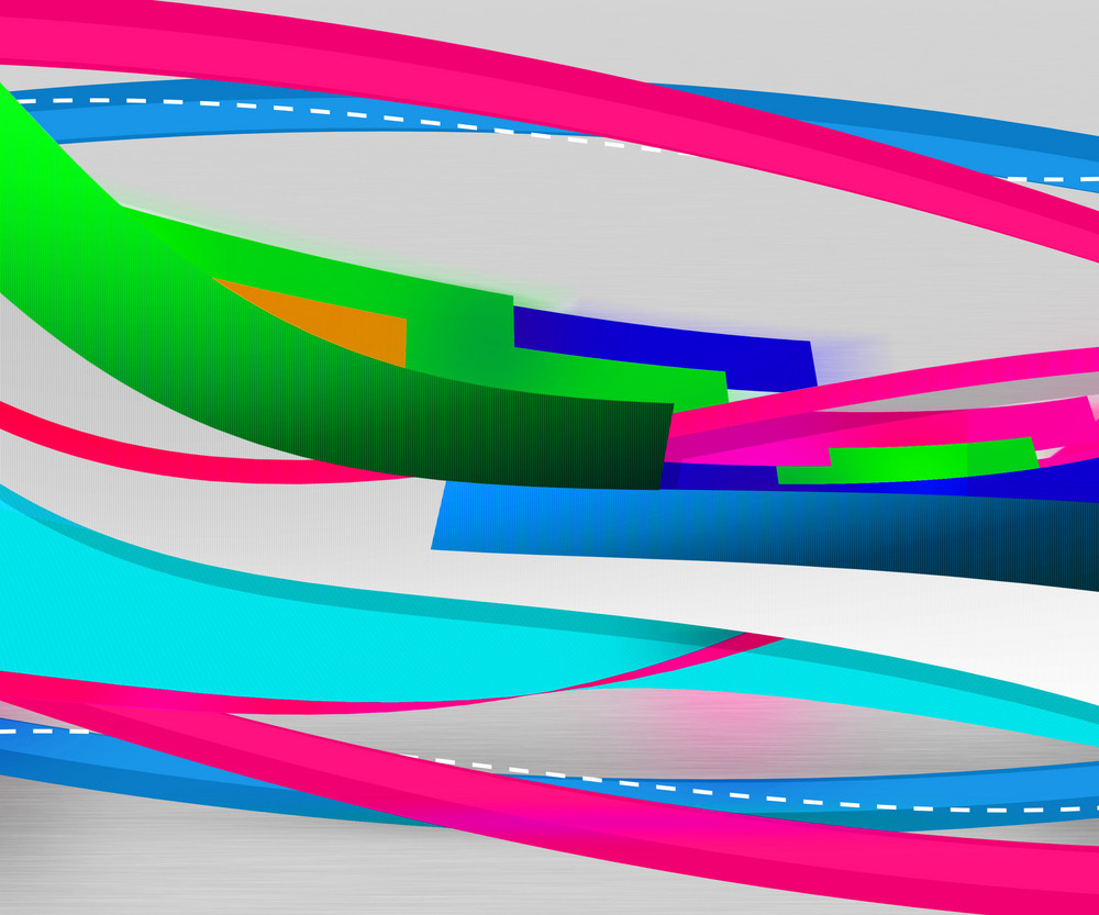Abstract Background Of Colorful Shapes