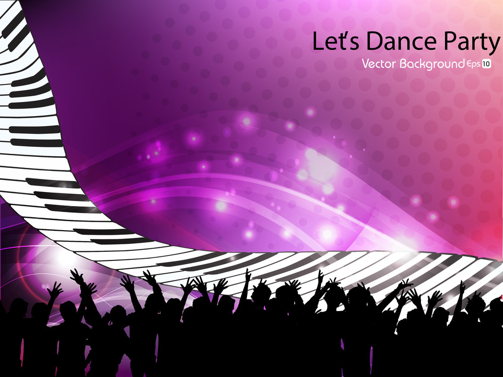 Abstract Background Of Dance Party Event People Having Fun. View Our Portfolio For More Designs.