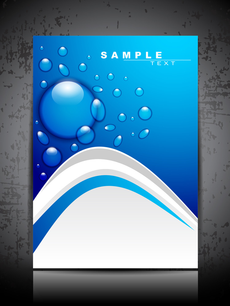 Abstract Background Water Splash And Space For Your Text. Can Be Use As Flyer