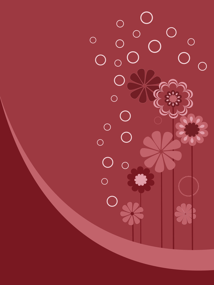Abstract Background With Blossoms