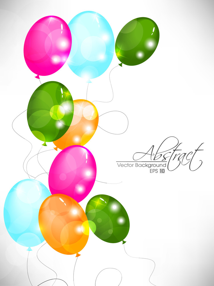 Abstract Background With Colorful Balloons 10
