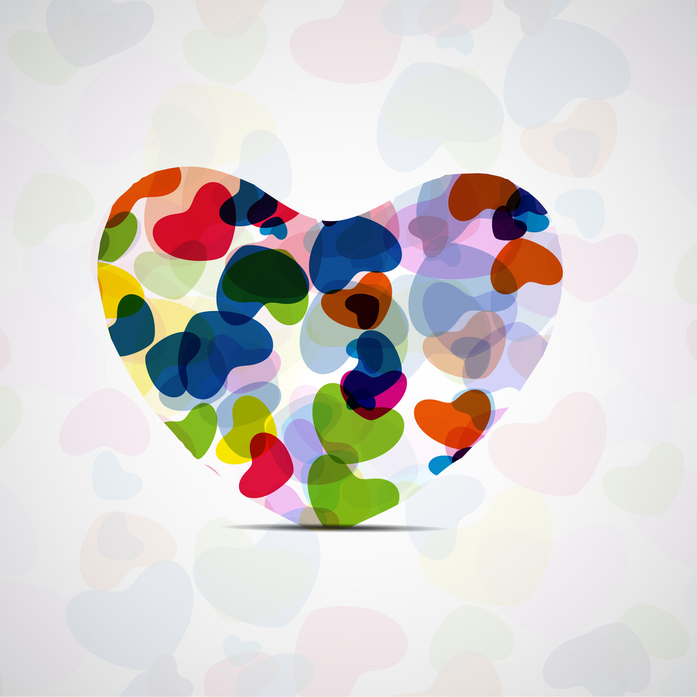Abstract Background With Colorful Hearts And Love Vector Illustration Eps10..