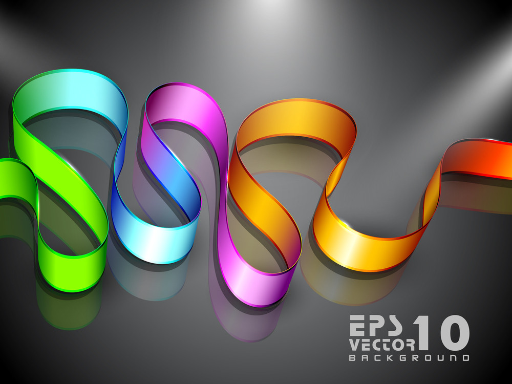 Abstract Background With Colorful Stripe On Shiny Grey Background 10