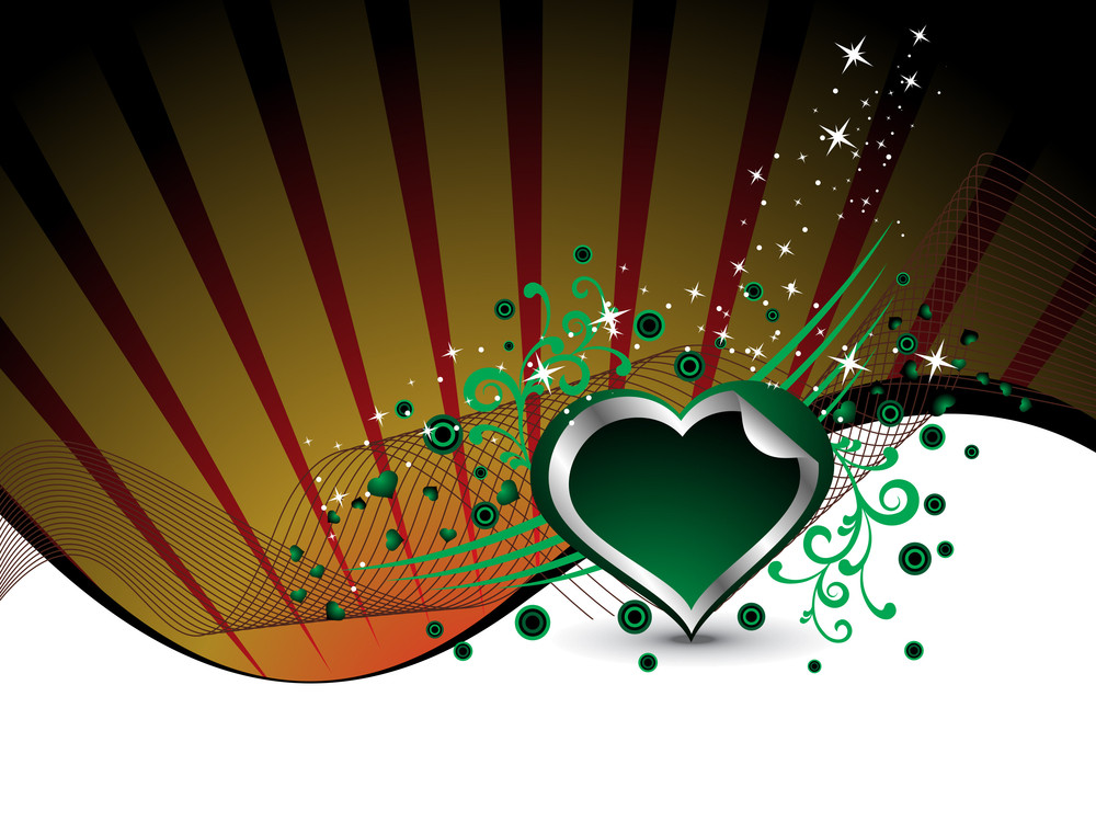 Abstract Background With Decorated Heart