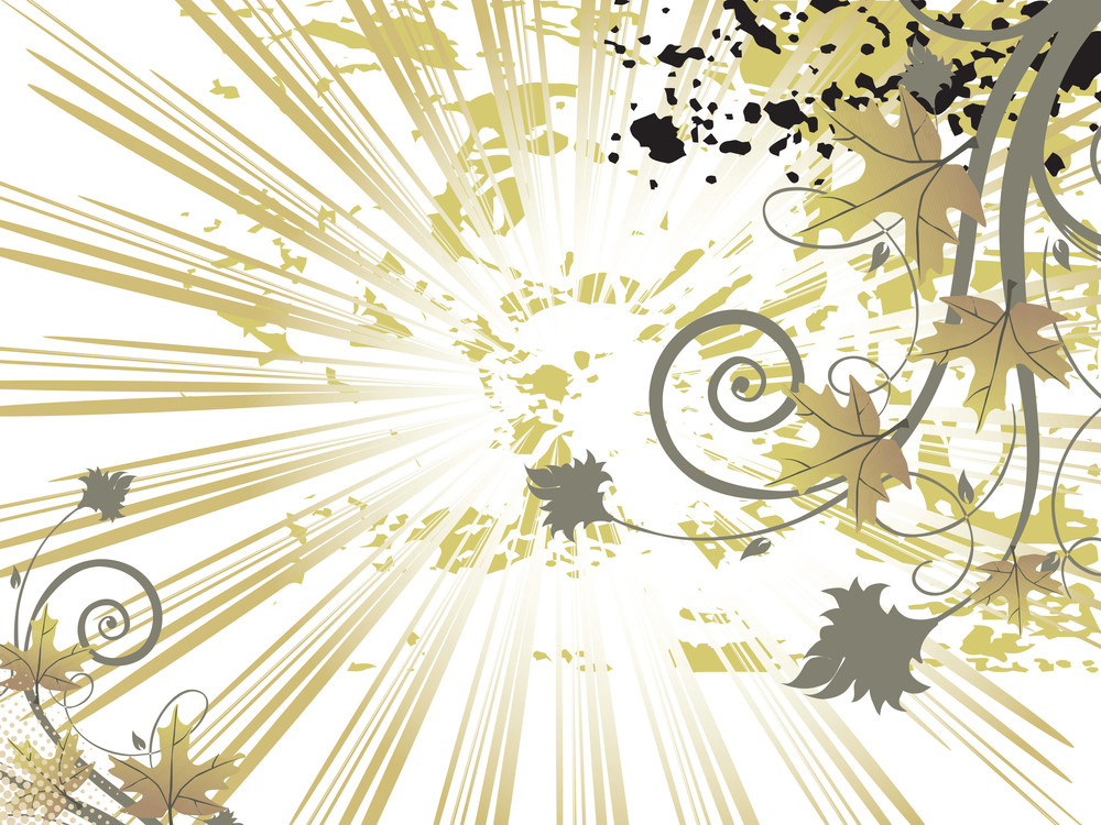 Abstract Background With Decorative Elements And Floral