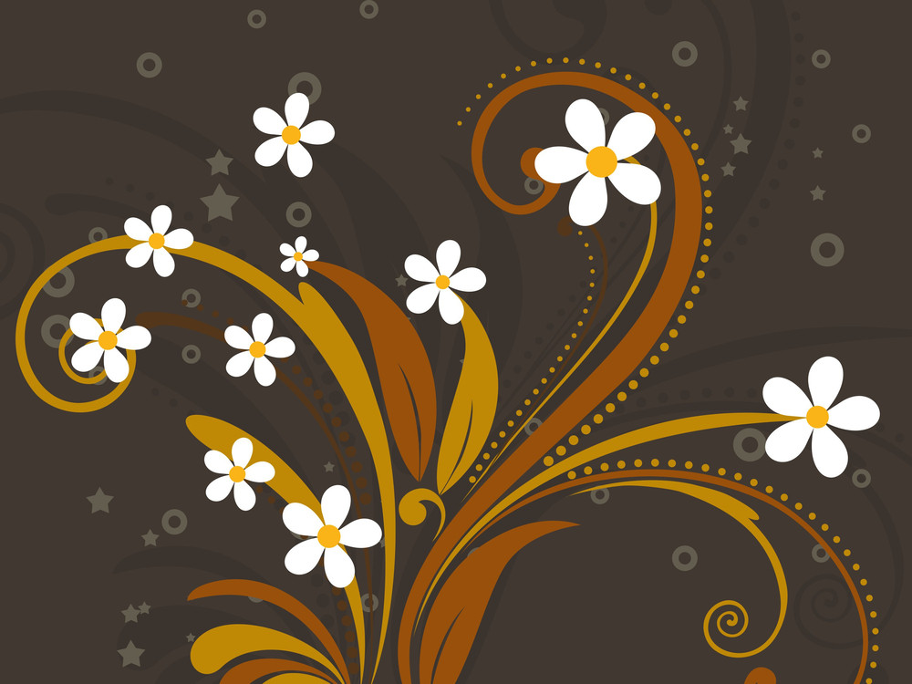 Abstract Background With Filigree Pattern
