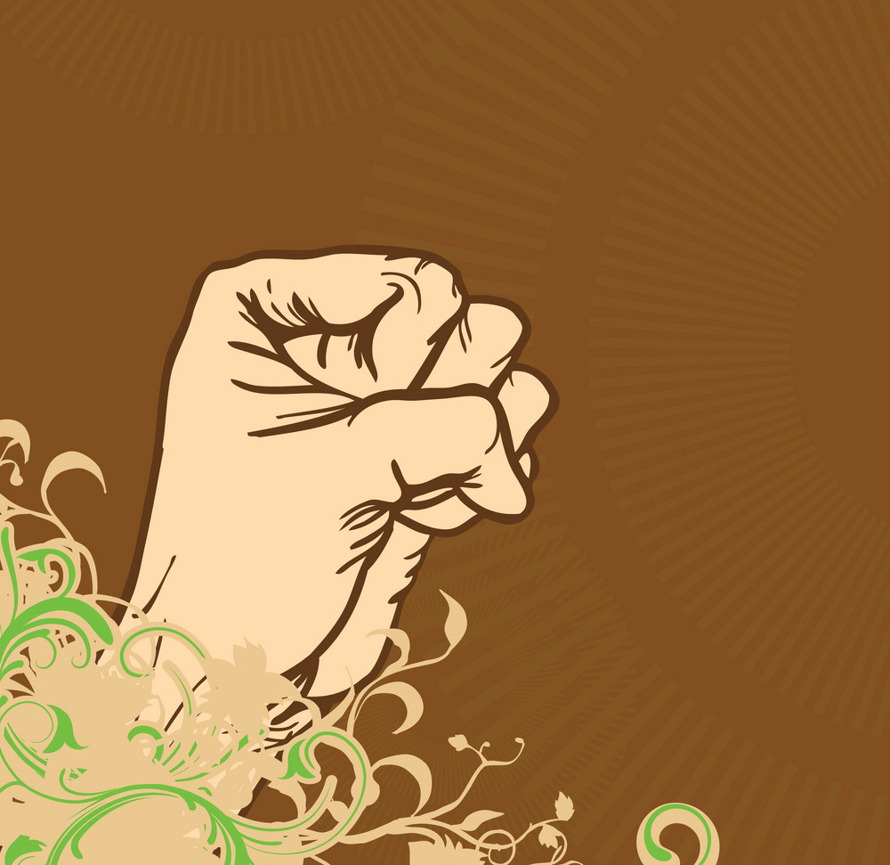 Abstract Background With Fist