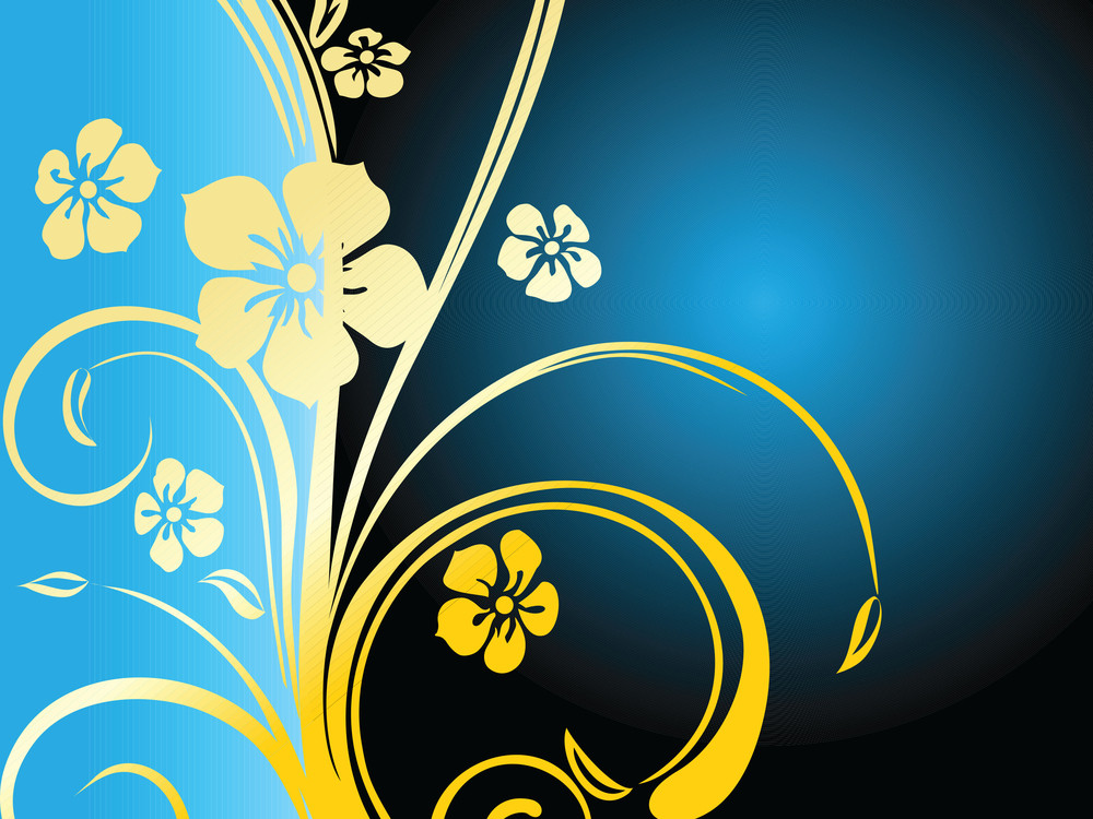 Abstract Background With Floral And Decorative Elements