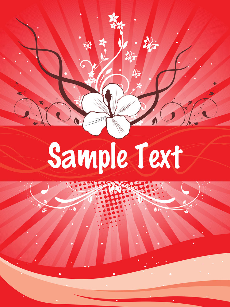 Abstract Background With Floral Element For Text