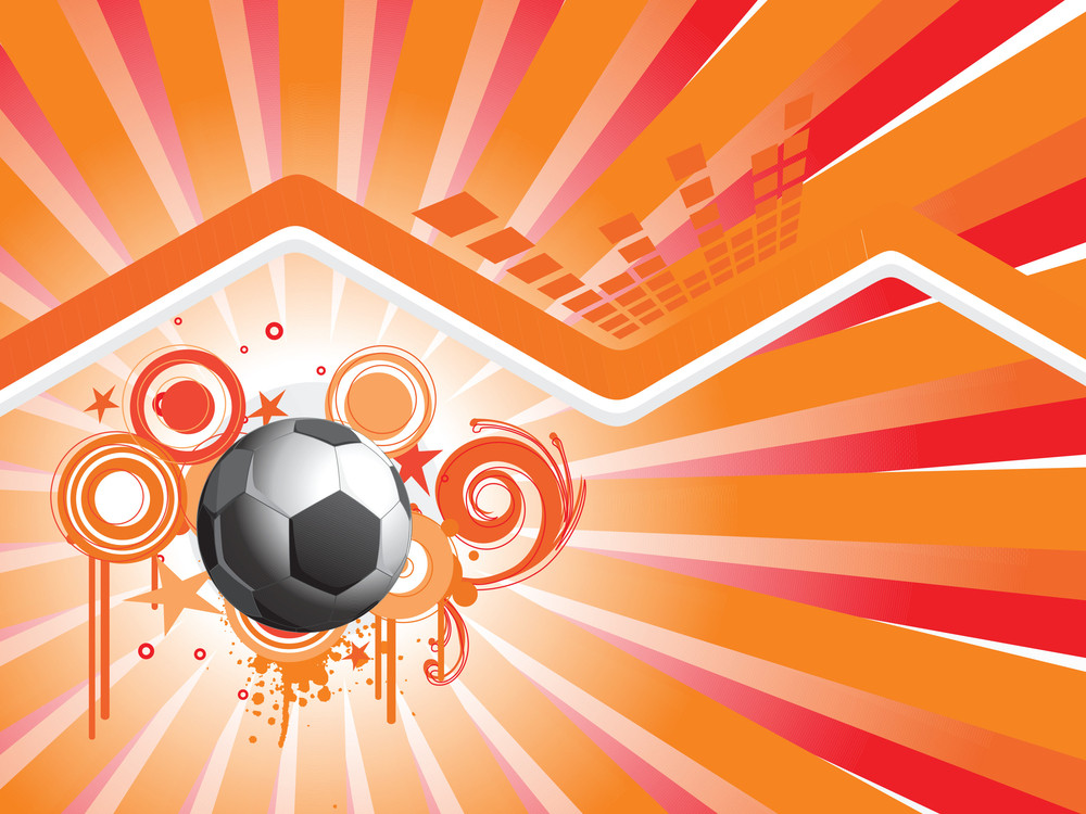 Abstract Background With Football And Grunge Elements