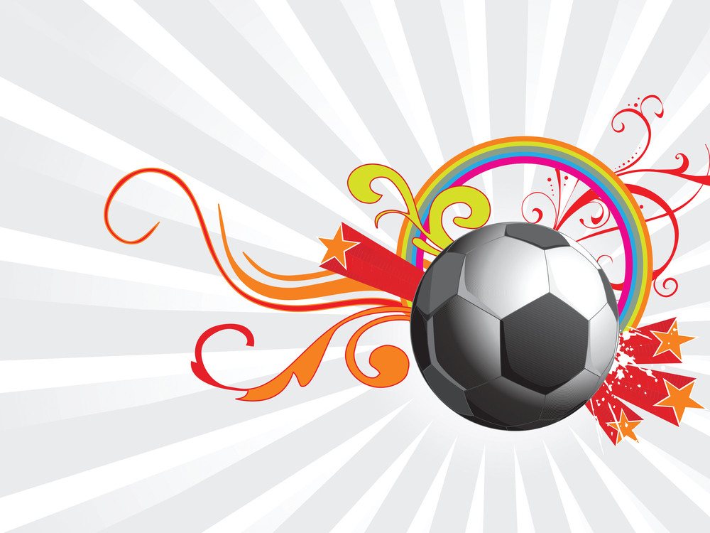 Abstract Background With Football And Vector Elements