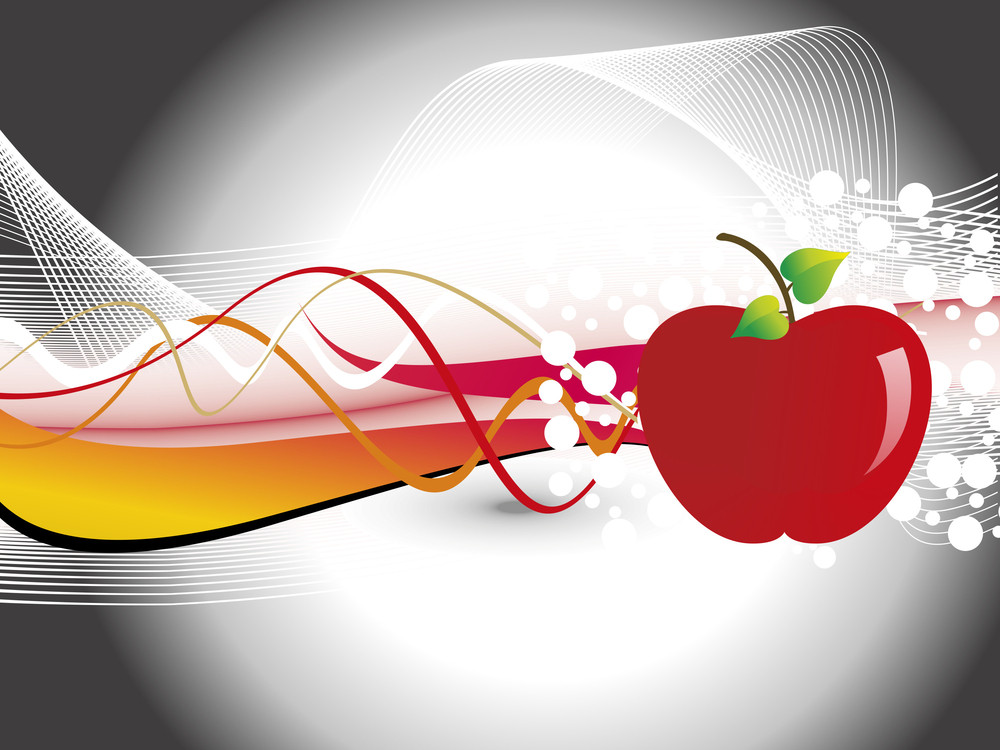 Abstract Background With Fresh Red Apple