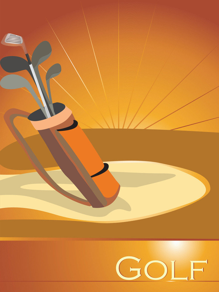 Abstract Background With Golf Bag