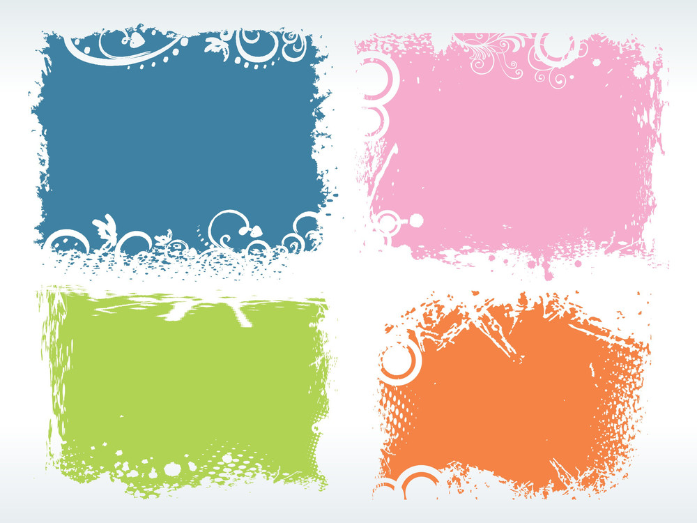 Abstract Background With Grungy Frames