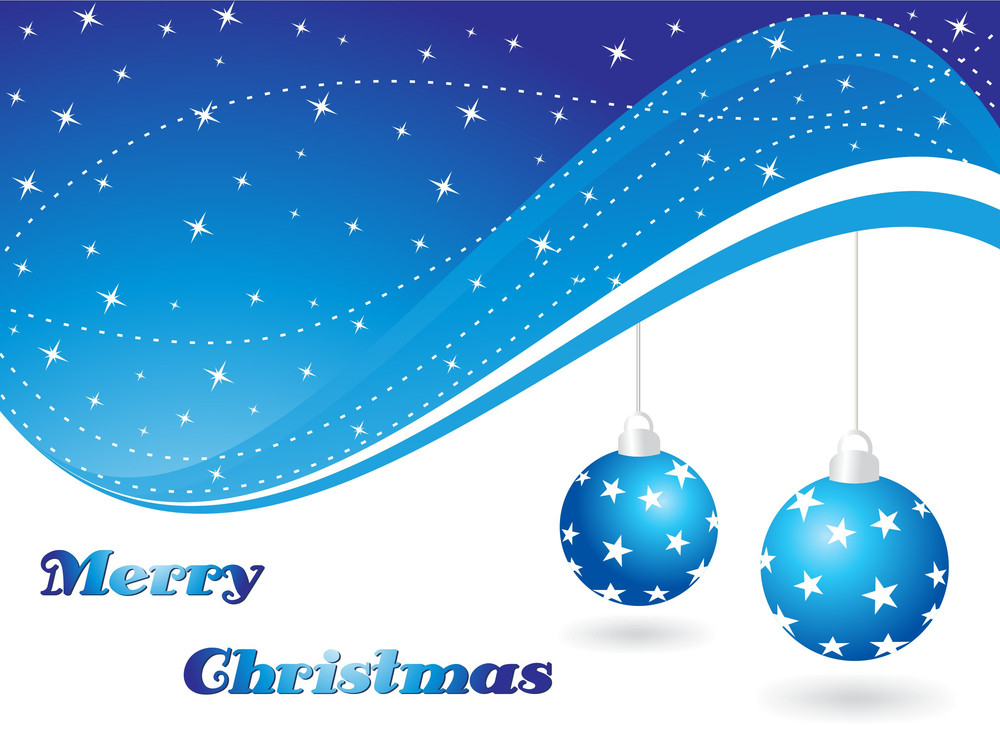 Abstract Background With Hanging Xmas Ball