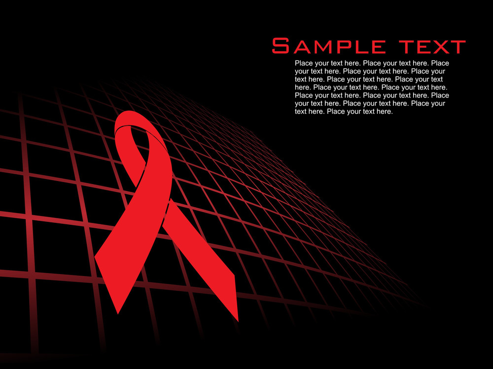 Abstract Background With Hiv Ribbon