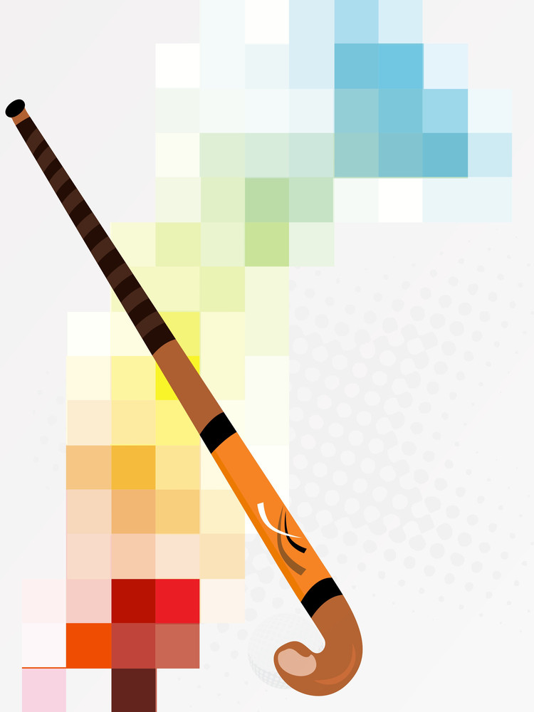 Abstract Background With Hockey Stick