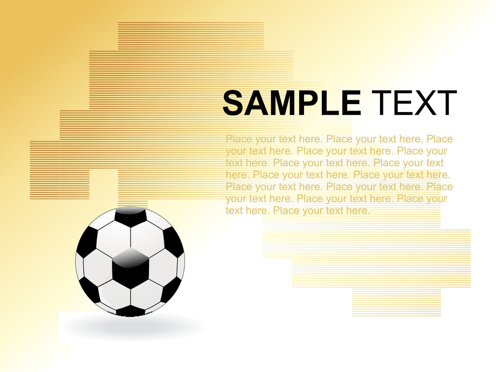 Abstract Background With Isolated Football
