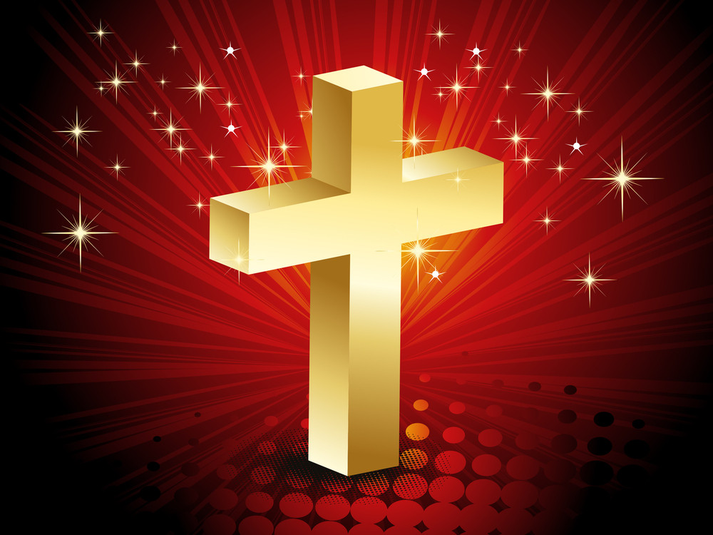 Abstract Background With Isolated Golden Cross