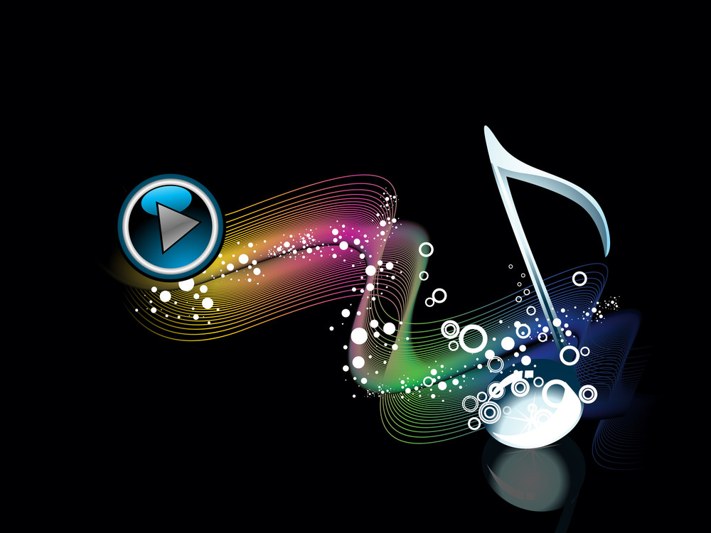Abstract Background With Musical Note