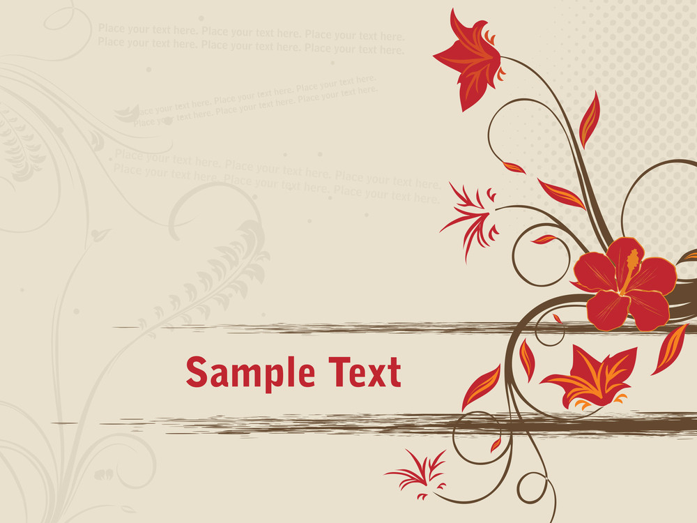 Abstract Background With Red Floral