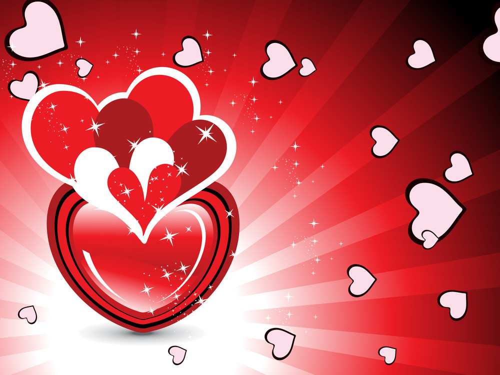 Abstract Background With Romantic Heart