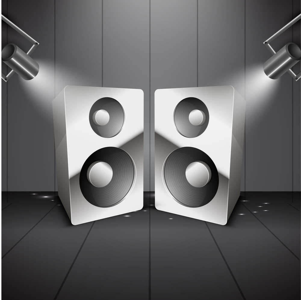 Abstract Background With Speakers