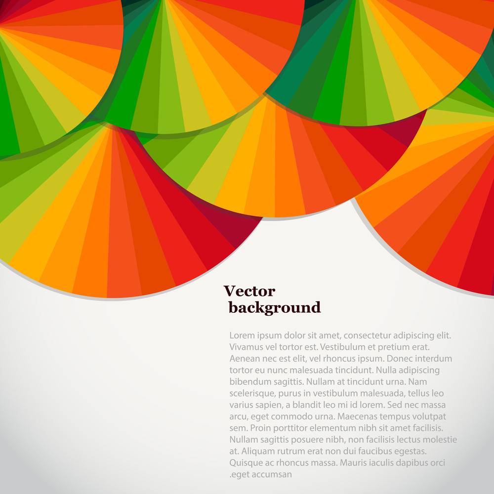 Abstract Background With Spectrum Wheels. Bright Rainbow Template Design With Place For Your Text