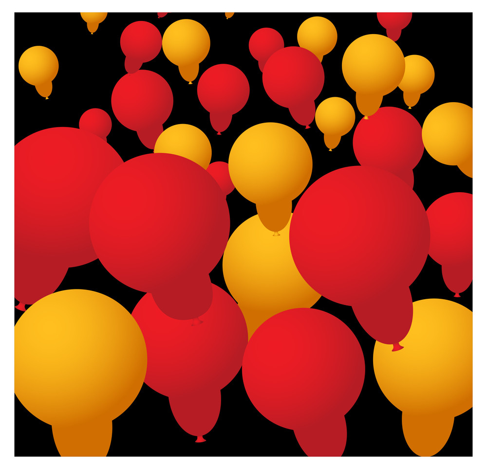 Abstract Balloons Background