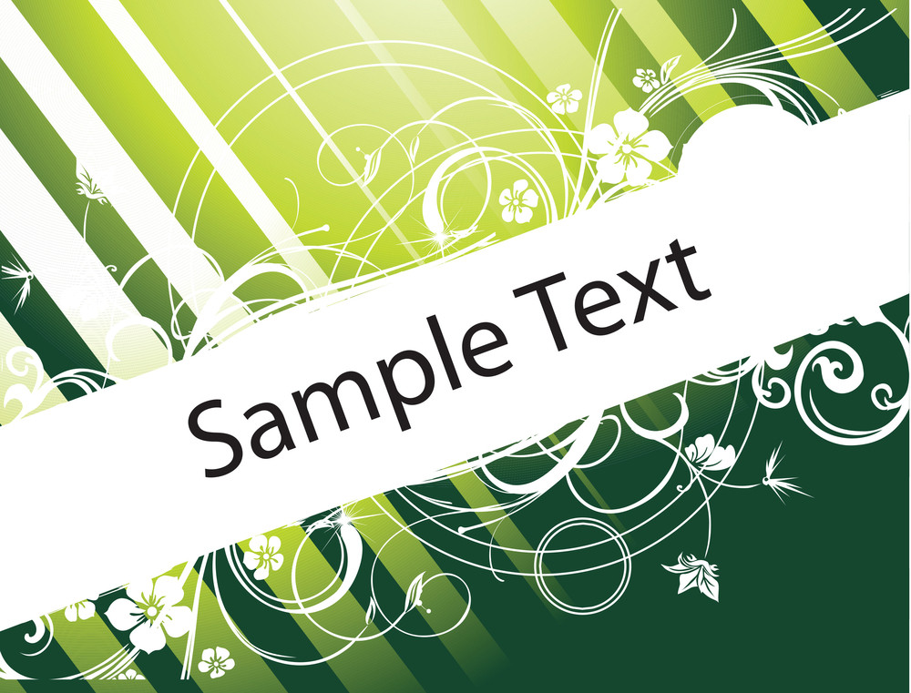 Abstract Banner Of Funky Vector Background For Text In Green