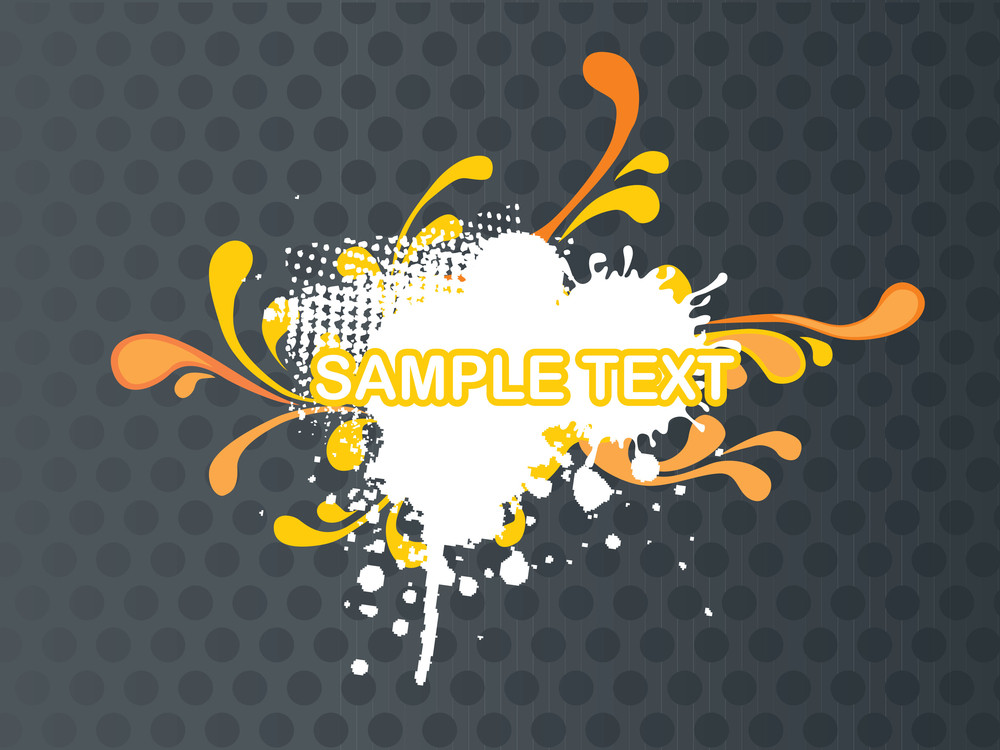 Abstract Banner With Funky Vector Background