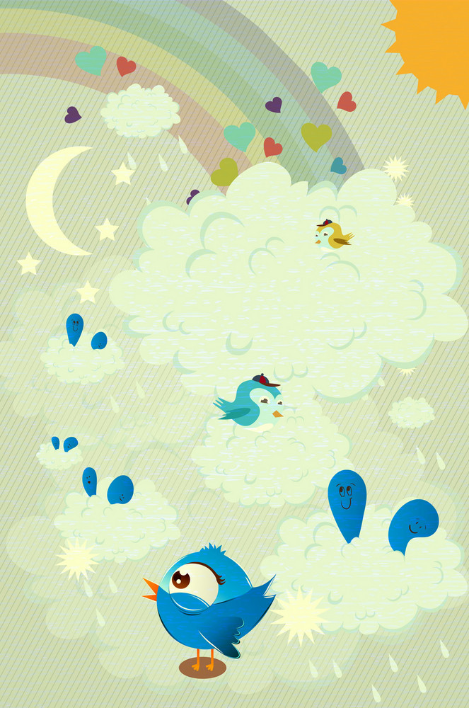 Abstract Birds Vector Illustration