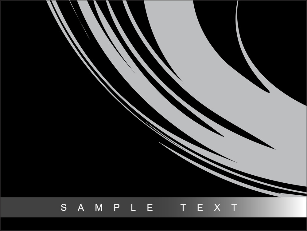 Abstract Black Backgound With Brush Effects