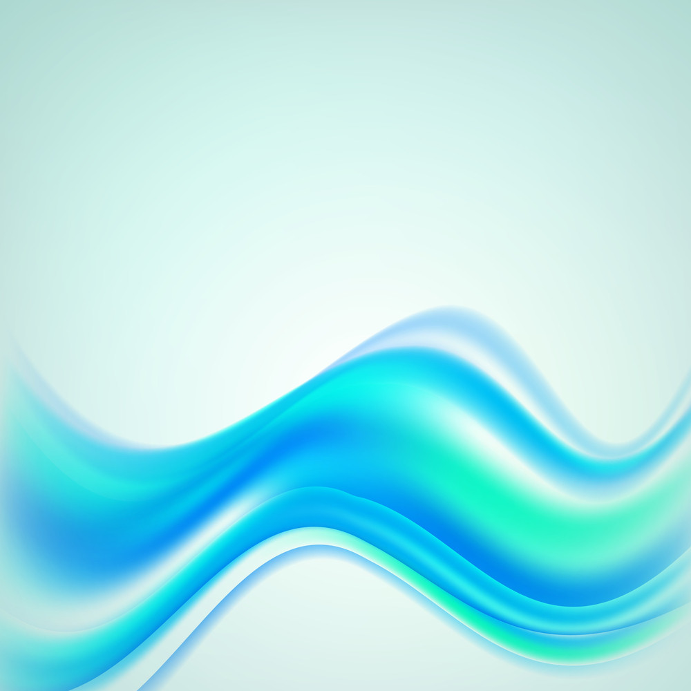 Abstract Blue Background With Sunlight And Water Waves