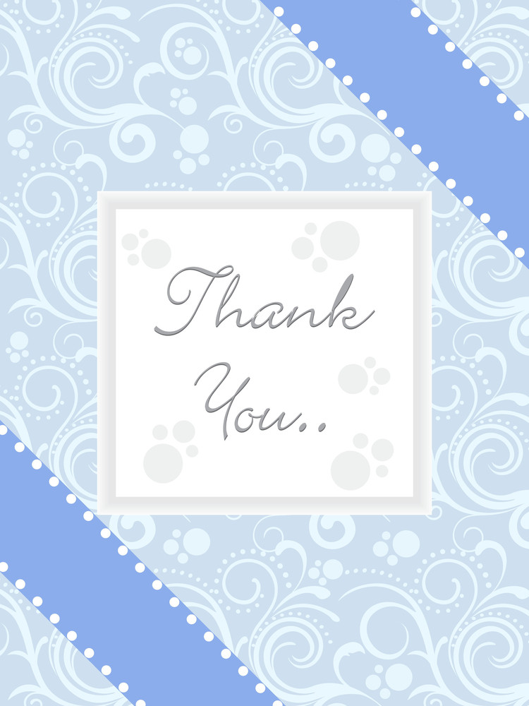 Abstract Blue Background With Thankyou Text