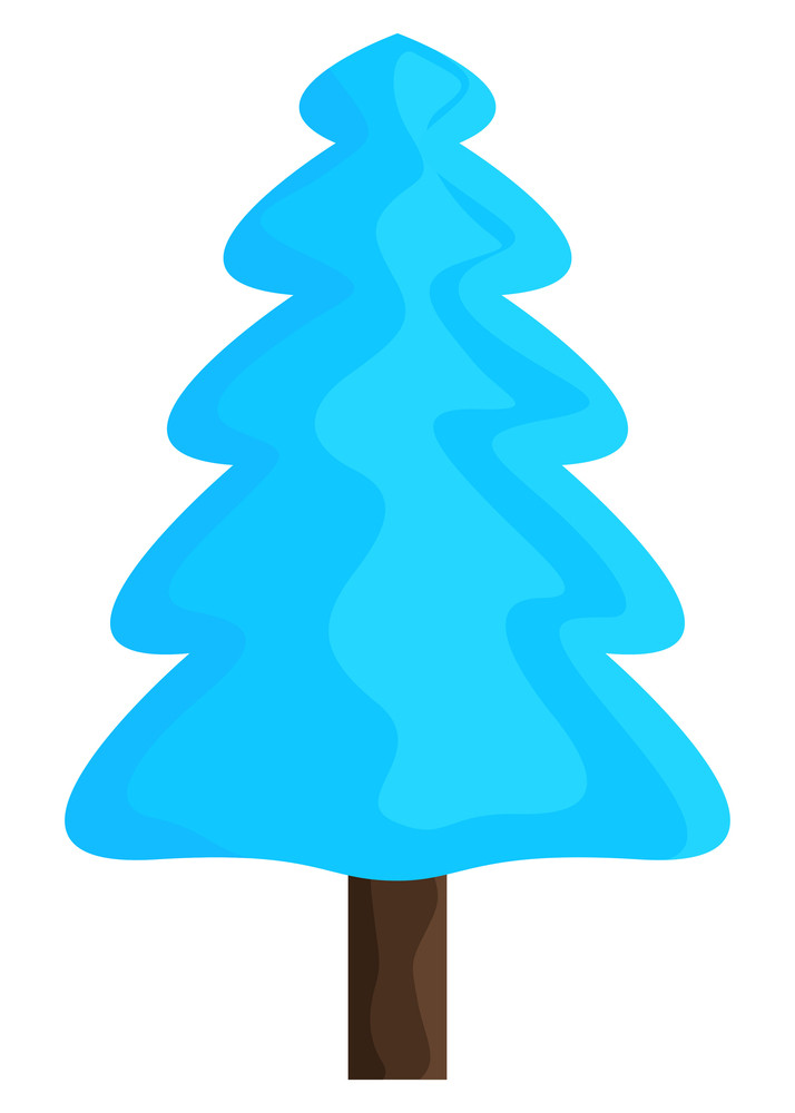 Abstract Blue Christmas Tree