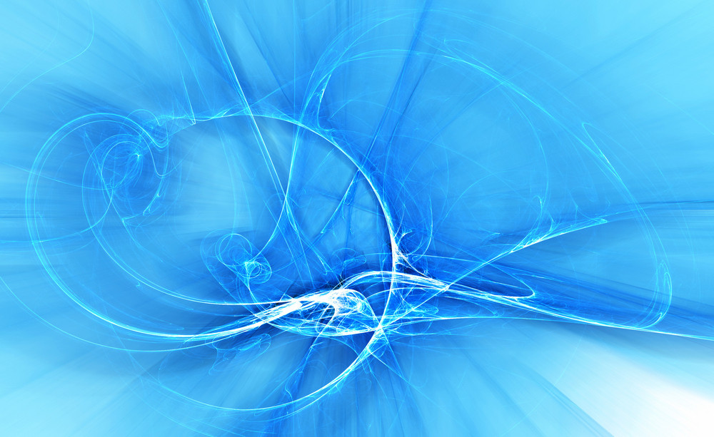 Abstract Blue Fractal Background